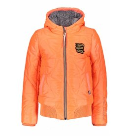 NoBell NoBell BaliaB Star Quilted Jacket with Hood Fluo Coral