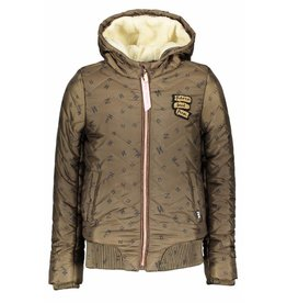 NoBell NoBell BaliaB Quilted Jacket with Hood Army Green