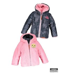 Moodstreet Mini Moodstreet Mini Reversible Short hooded coat girls Pink