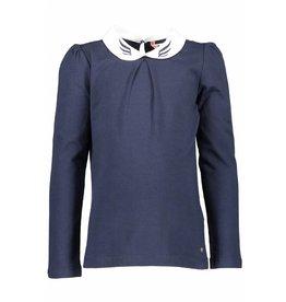 NONO NONO Karly Longsleeve T-shirt contrast collar Navy Blazer