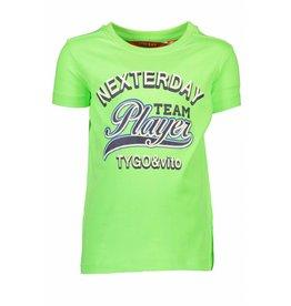 "TYGO & Vito TYGO & Vito Neon T-shirt "" TEAM PLAYER "" Green Gecko"