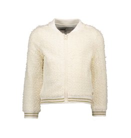 Moodstreet Moodstreet Bomberjacket Striped Rib Off white