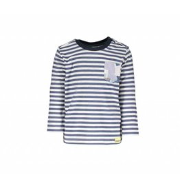 Moodstreet Mini Moodstreet Mini T-shirt Longsleeve Stripe Night Blue