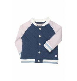 Moodsteet Baby Moodstreet Baby Cardigan Contrast Sleeves Petrol Blue