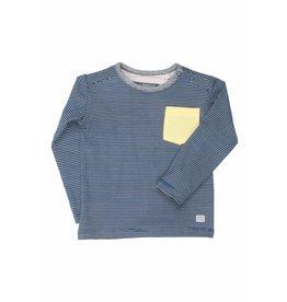 Moodsteet Baby Moodstreet Baby T-shirt Contrast Pocket Petrol Blue