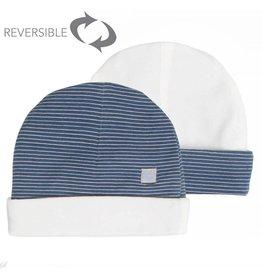 Moodsteet Baby Moodstreet Baby Hat Reversible Petrol Blue
