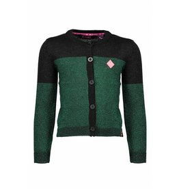 B.Nosy B.Nosy Girls Knitted Lurex Cardigan Metallic green