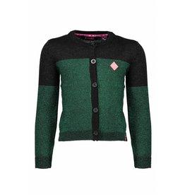 B.Nosy B.Nosy Girls Knitted Lurex Cardigan Metallic green