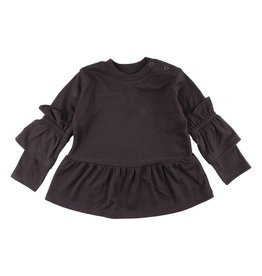 Small Rags Small Rags Hella Longsleeve T-shirt Espresso mt 104