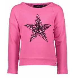 B.Nosy B. Nosy Girls Wide Sweater with low shoulder Neon Magenta