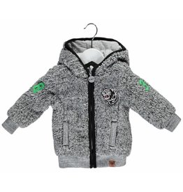 B.Nosy B. Nosy Baby Boy Fur hooded Jacket Mouse melee