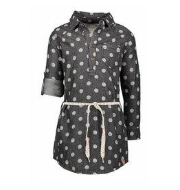 B.Nosy B. Nosy Girls Dot Denim Dress with belt Grey Denim
