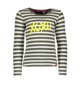 B.Nosy B. Nosy Girls Longsleeve Stripe T-shirt crocodile