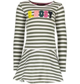B.Nosy B. Nosy Girls Stripe Dress with Terry application Crocodile