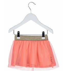 B.Nosy B. Nosy Baby Girl Double layer skirt Neon Red