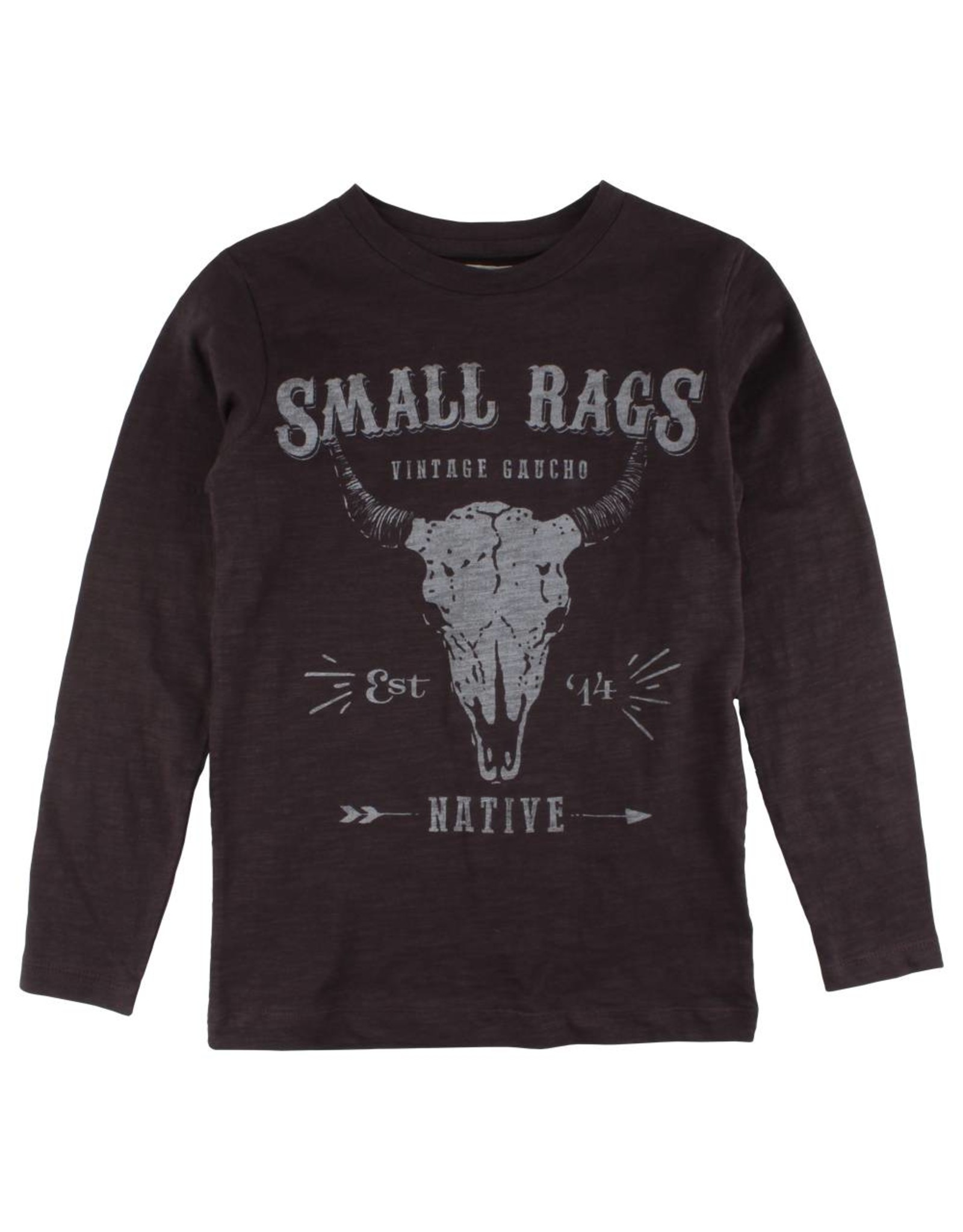 Small Rags Small Rags Huxi Longsleeve T-shirt Espresso