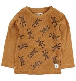 Small Rags Small Rags Hubert Longsleeve T-shirt Bone Brown