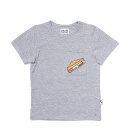 CarlijnQ Sandwiches -T shirt grey melange / embroidery