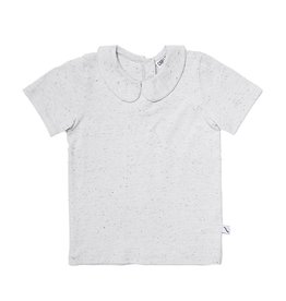 CarlijnQ Basics - grey shirt with collar