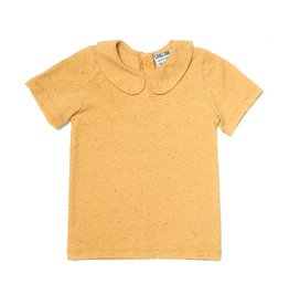 CarlijnQ Basics - yellow shirt with collar