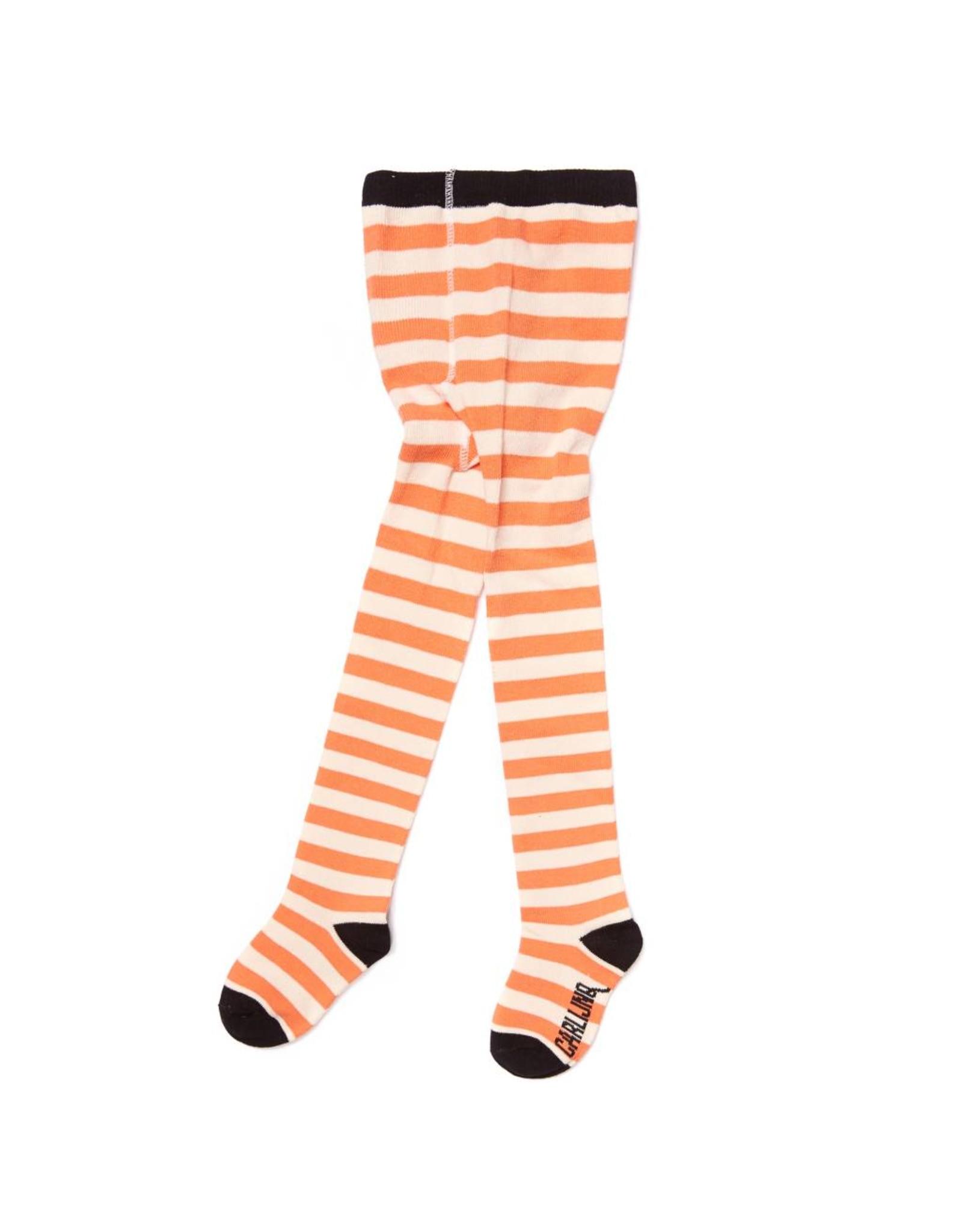 CarlijnQ Tights - stripes peach/off white