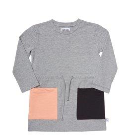 CarlijnQ Kiss Goodbye - block t-shirt dress