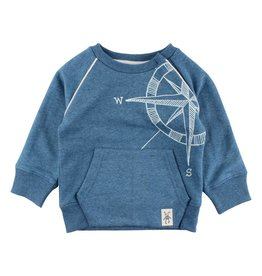 Small Rags Small Rags Sweater Compass Mallard Blue
