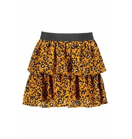 Like Flo Like Flo Girls Oker Panther smock skirt