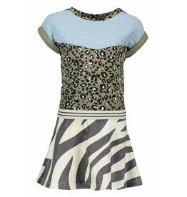 Like Flo Like Flo Girls Sweat colour block Dress All over Army