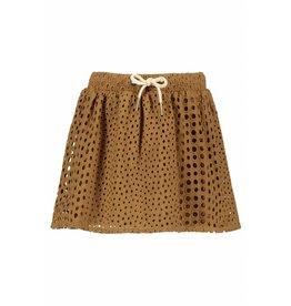 Like Flo Like Flo Girls Broidery Skirt Camel