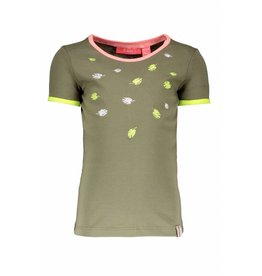 B.Nosy B.Nosy Girls Embroidery Shirt-Fern Green