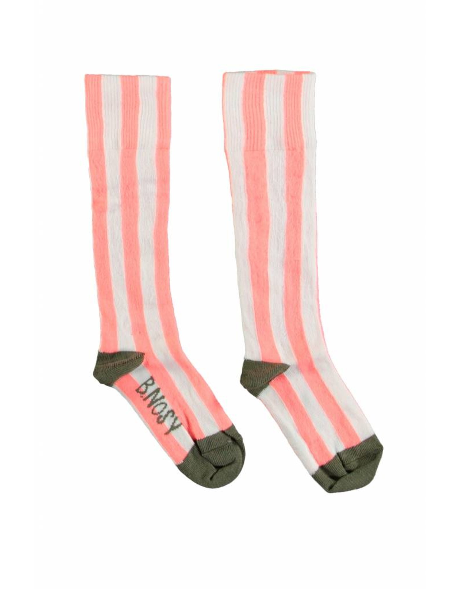 B.Nosy B.Nosy Socks Stripe-Bright Salmon