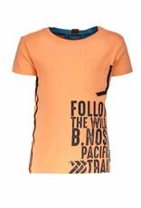 B.Nosy B.Nosy Boys Shirt With Print On Side-Neon Orange