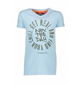 TYGO & Vito TYGO & Vito T-Shirt Get Real-Light Blue