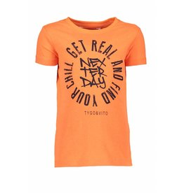 TYGO & Vito TYGO & Vito Neon T-Shirt Get Real-Shocking Orange