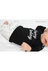 Little Bampidano LB-New Born Slim Trousers AO Print-Black AO