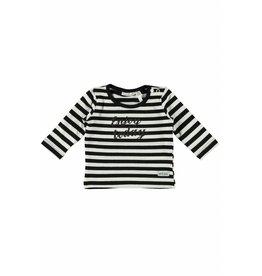 Little Bampidano LB- New Born T-Shirt L/S Y/D Stripe-Black-White Stripe