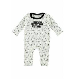 Little Bampidano LB New Born Overall- Allover Print-Black AO