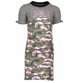 Moodsteet Darlin Moodstreet Darlin Dress Contrast Army