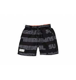 Super Rebel Super Rebel Boys swim short AO text black