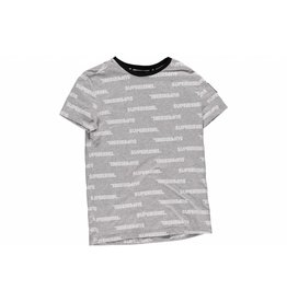 Super Rebel Super Rebel Boys jersey t-shirt AO logo grey melee