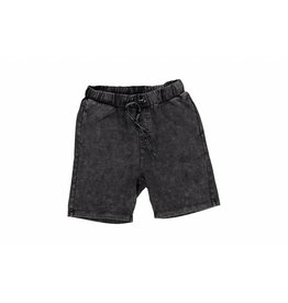 Super Rebel Super Rebel Boys denim jersey short Black