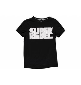 Super Rebel Super Rebel Boys t-shirt with print black/white