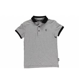 Super Rebel Super Rebel Boys pique polo grey melee
