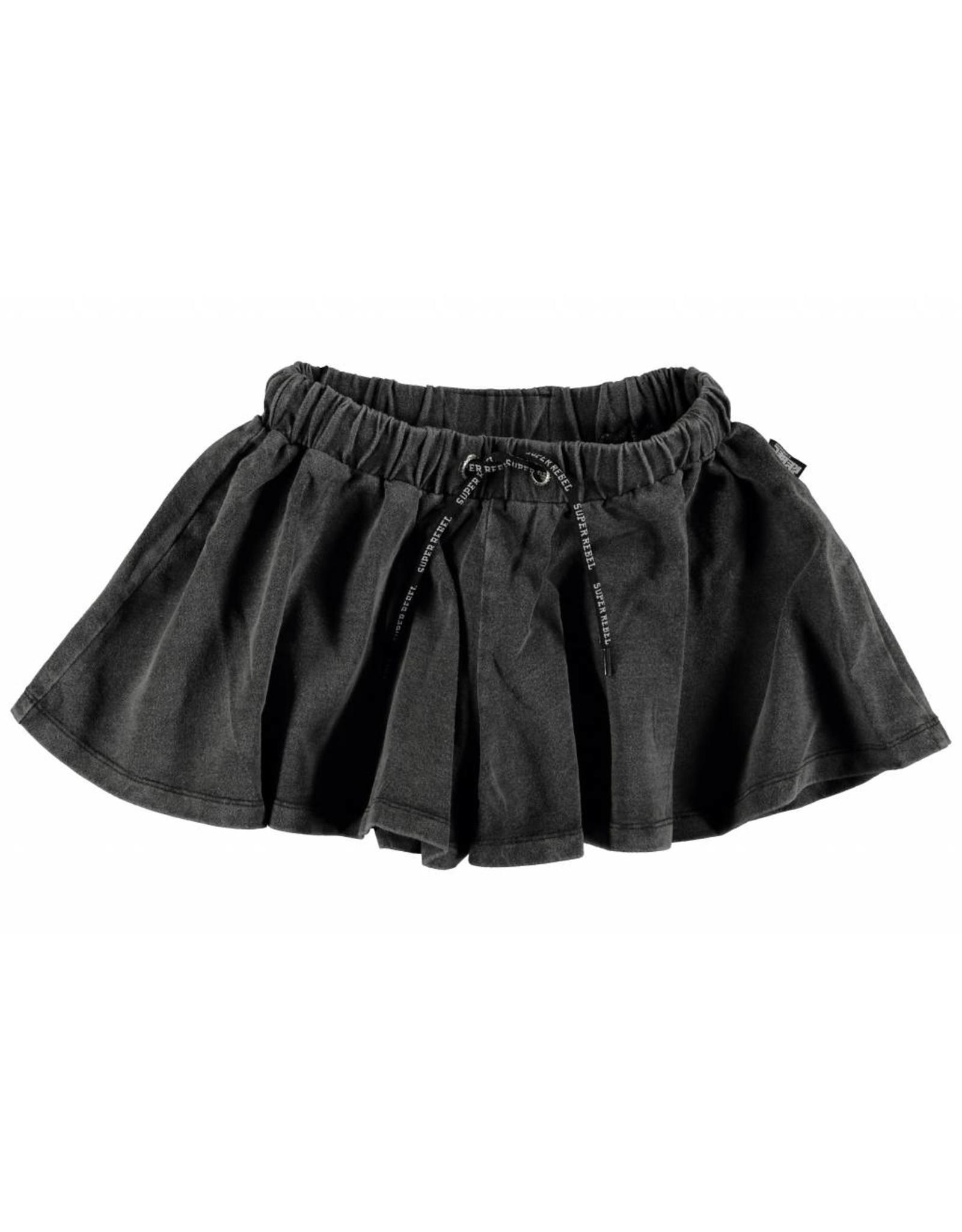 Super Rebel Super Rebel Girls denim look short culottes black