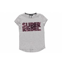 Super Rebel Super Rebel Girls short sleeve t-shirt grey melee