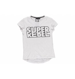 Super Rebel Super Rebel Girls short sleeve t-shirt with print white