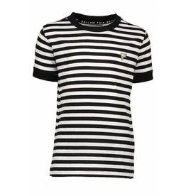 Moodstreet Fellow Moodstreet Fellow t-shirt stripe black/white