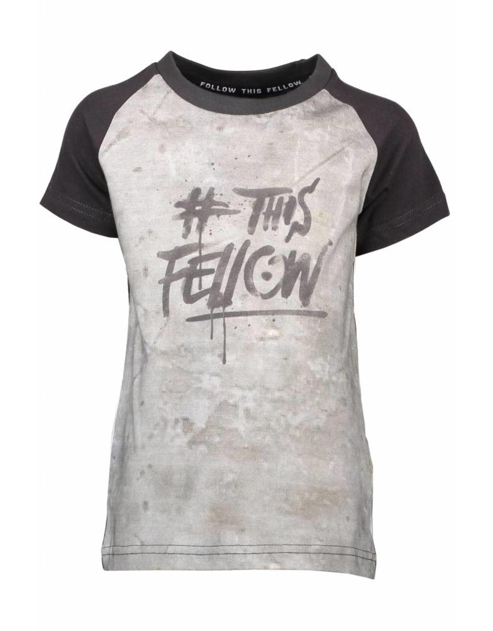 Moodstreet Fellow Moodstreet Fellow t-shirt raglan chest embro black