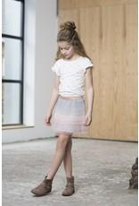 Like Flo Like Flo Girls Colour block mesh Ruffle Skirt Blue